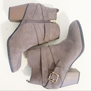 Express heeled ankle booties